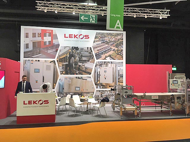 Messestand unseres Partners Lekos Confectionary Machines auf der ProSweets 2019